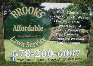 Brooks Affordable Lawn Service Sign