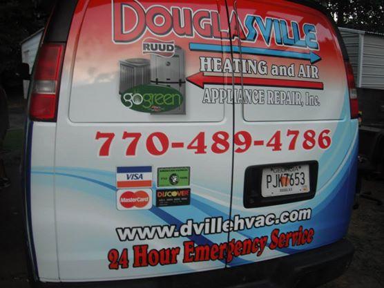 Douglasville Heating & Air Van Wrap